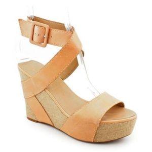 Franco Sarto Reba Leather Platform Sandals